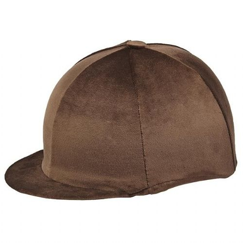 Capz Velour Hat Cover in Brown